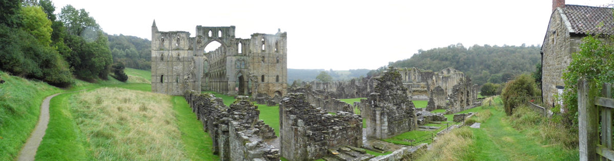 Panoramic View of Reivaulx Abbey, North Riding of Yorkshire