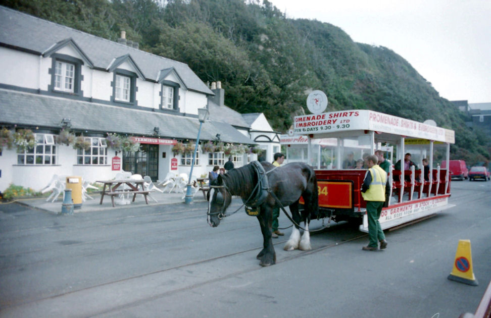 About to start the Journey - Isle of Man Horse Drawn Railway, Isle of Man