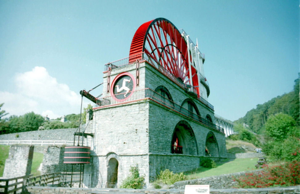 Another view of the Laxey Wheel, Isle of Man