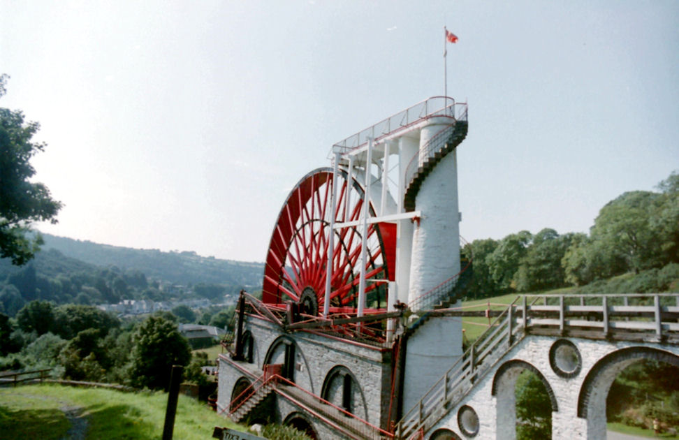 In the Centre of the Island - The Laxey Wheel, Isle of Man