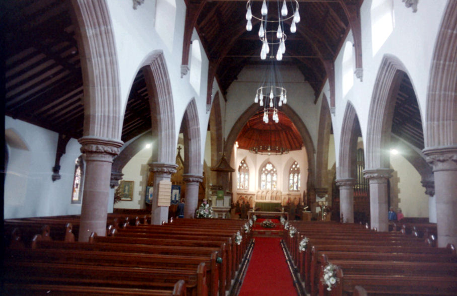 Interior of Peel Cathedral, Isle of Man