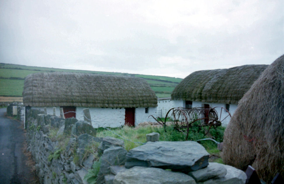 Cregneash Folk Village - Thatched Cottages, Isle of Man