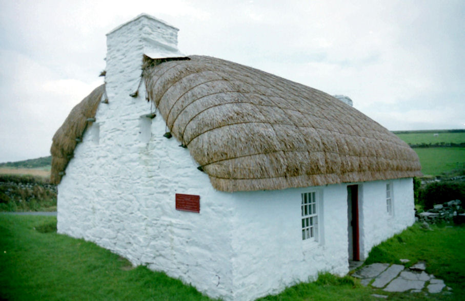 Traditional Manx Cottage, Cregneash, Isle of Man
