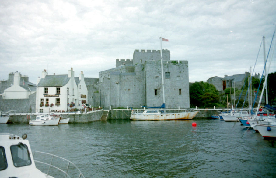 Another view of Castle Rushen and Castletown Harbour, Isle of Man
